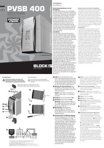 PVSB 400 - BLOCK Transformatoren-Elektronik GmbH