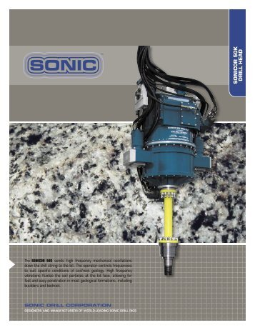 Download Specification - Sonic Plant Hire