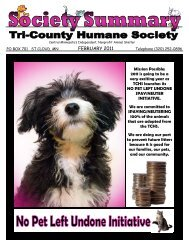 February Newsletter-New Format - Tri-County Humane Society