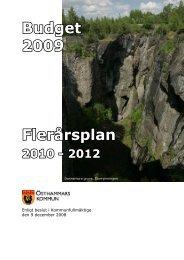 Budget 2009 Flerårsplan - Östhammars kommun