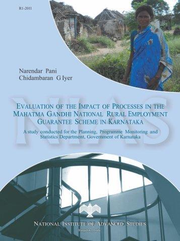 MGNREGS final report - Government of Karnataka