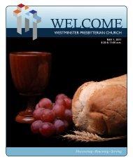 May 1, 2011 - Westminster Presbyterian Church