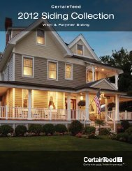 2012 Siding Collection - CertainTeed