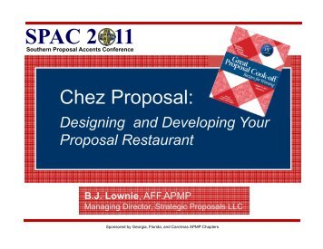 Chez Proposal: Designing and Developing Your Proposal ... - SPAC