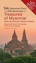 Treasures of Myanmar - Yale University