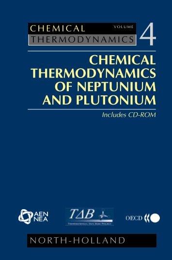chemical thermodynamics of neptunium and plutonium - U.S. ...