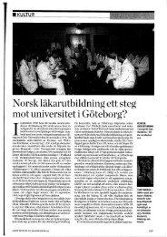Norsk läkarutbildning ett steg mot universitet i Göteborg?