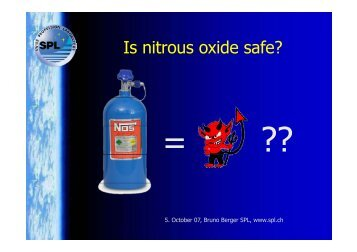 Is nitrous oxide safe? - Swiss Propulsion Laboratory