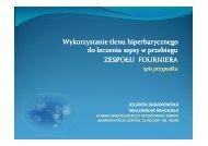 Wykorzystanie tlenu hiperbarycznego do leczenia sepsy w ...