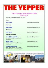 YEPPER - March 2012 - Rotary District 9650 Youth Exchange