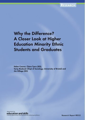 A Closer Look at Higher Education Minority Ethnic Students and ...