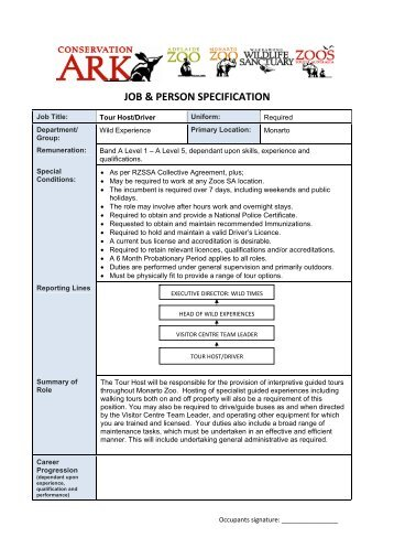 job description and person specification template Job description job description v10 page 3 of 4 person specification essential desirable where evidenced experience of recruitment of staff / volunteers x.