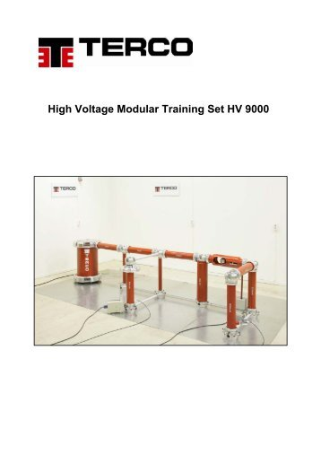 High Voltage Modular Training Set HV 9000 - Terco