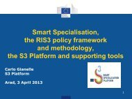 Smart Specialisation, the RIS3 policy framework and ... - InnoBoost