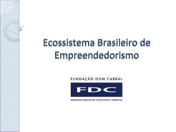 Brazilian Entrepreneurship Ecosystem - Open Innovation Seminar