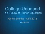 College (Un)Bound