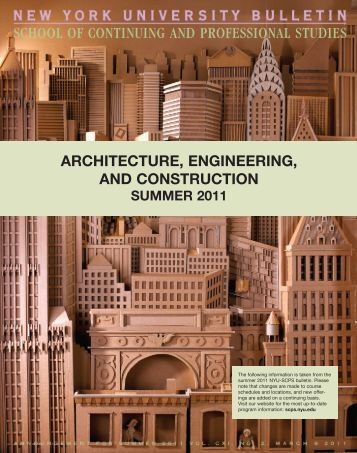 architecture, engineering, and construction - School of Continuing ...