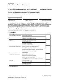 BD Grundstudium Jahrgang 1996-1999 - Fachhochschule Hannover