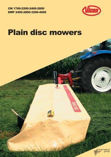 Plain disc mowers