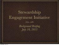 Stewardship Engagement Initiative - C-AGG