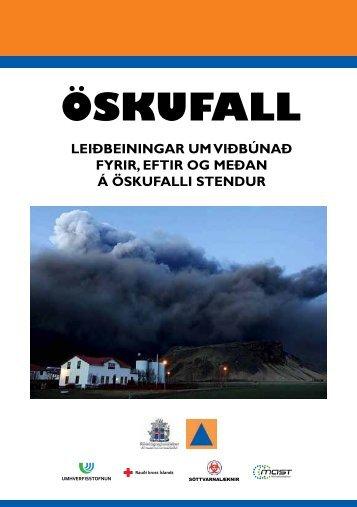 Öskufall – Leiðbeiningar um viðbúnað fyrir, eftir og meðan á ...
