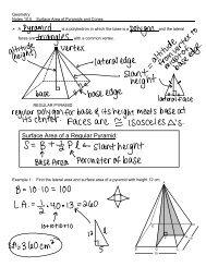Surface Area of a Regular Pyramid: