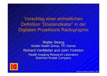 """Vorschlag einer einheitlichen Definition""""Dosisindikator""""inder ..."""