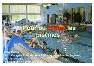 Contre la piscine - Société pédiatrique de pneumologie et d ...