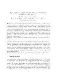 Projections révélatrices exploratoires et données qualitatives 1 ...