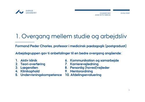 Stormøde konklusioner - Center for Medicinsk Uddannelse - Aarhus ...