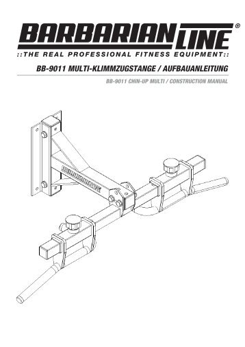 bb-9011 multi-klimmzugstange / aufbauanleitung - Barbarian Line