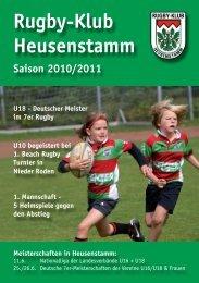Saisonheft 2010-11 - Rugby  Klub Heusenstamm