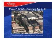 Pleuger Schöpfwerkspumpe Typ S/SN - TS-Pumpentechnik GmbH