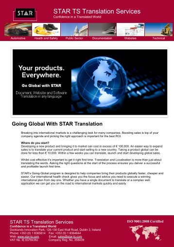 download our whitepaper on Going Global - STAR Translation