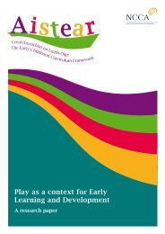 Play as a context for Early Learning and Development