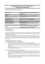 Rapport Bilan d'émissions de Gaz à Effet de Serre - Crédit Agricole ...