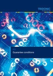 Guarantee conditions