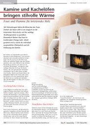 Kamine und Kachelöfen bringen stilvolle Wärme - Immobilien