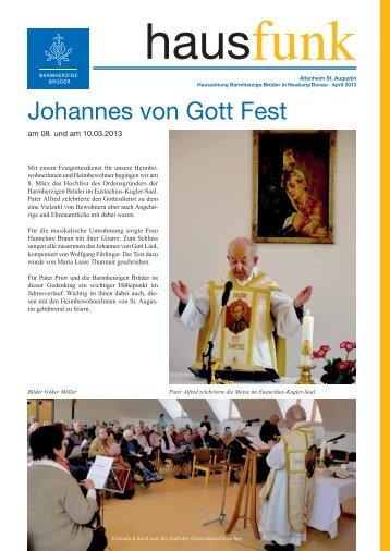 Johannes von Gott Fest - Alten- und Pflegeheim St. Augustin der ...
