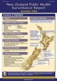 NZPHSR - December 2006 - Public Health Surveillance