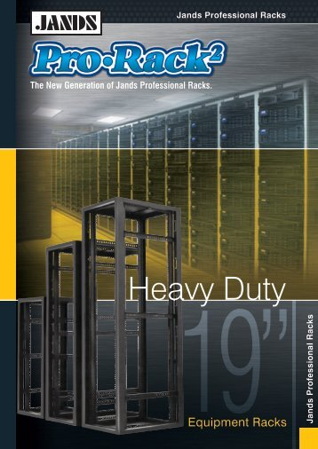 to view the Pro-Rack2 Brochure - Jands