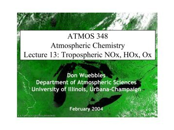Tropospheric Chemistry - Department of Atmospheric Sciences ...