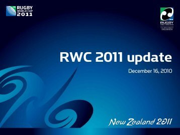 RWC 2011 update - Rugby World Cup
