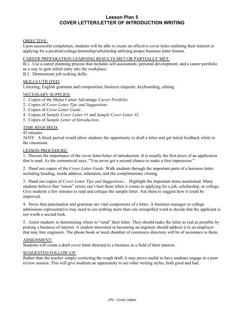 Introduction To Cover Letter from img.yumpu.com