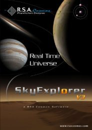 Download the documentation about SkyExplorer V3 - RSA Cosmos