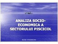 Analiza socio-economica a sectorului piscicol - MADR