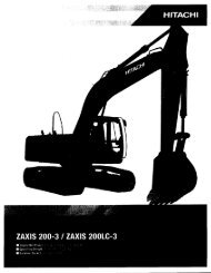 Page 1 Page 2 ZAXIS 200-3 / ZAXIS 200LC-3 SPECIFICATIONS ...