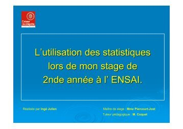 Traitement statistique d'une étude sur l'équipement de la population ...