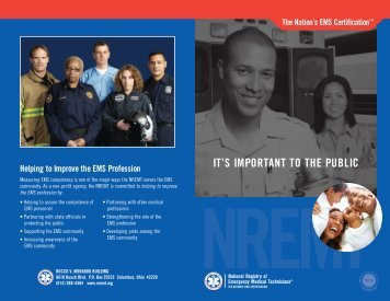 General Information Brochure - National Registry of Emergency ...