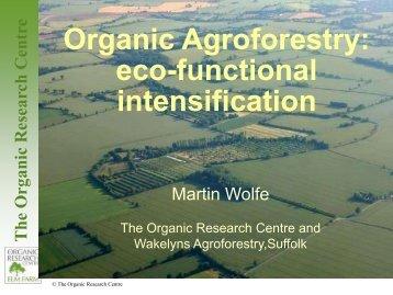 The Organic Research Centre - Farm Woodland Forum